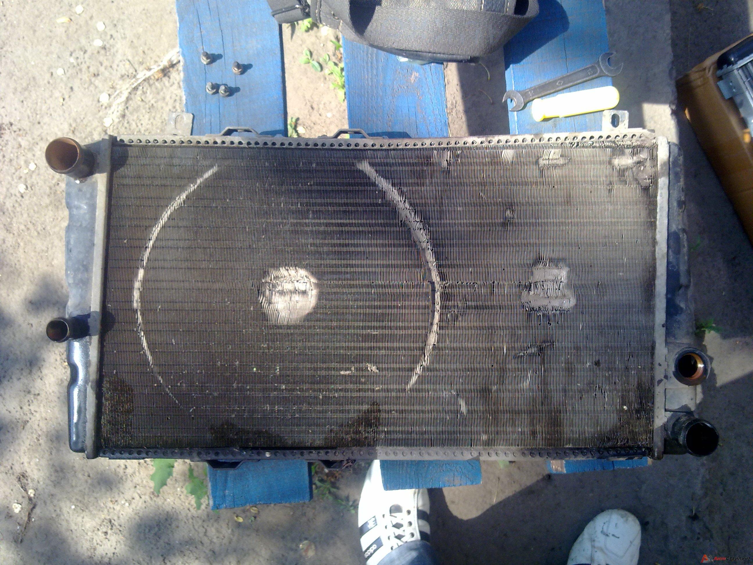 Ремонт алюминиевого радиатора автомобиля 40